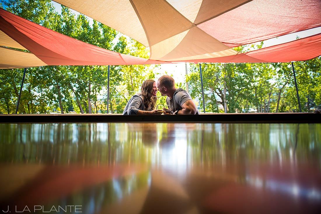 J. LaPlante Photo   Boulder Wedding Photographers   Sanitas Brewing Boulder Engagement   Brewery Engagement Shoot