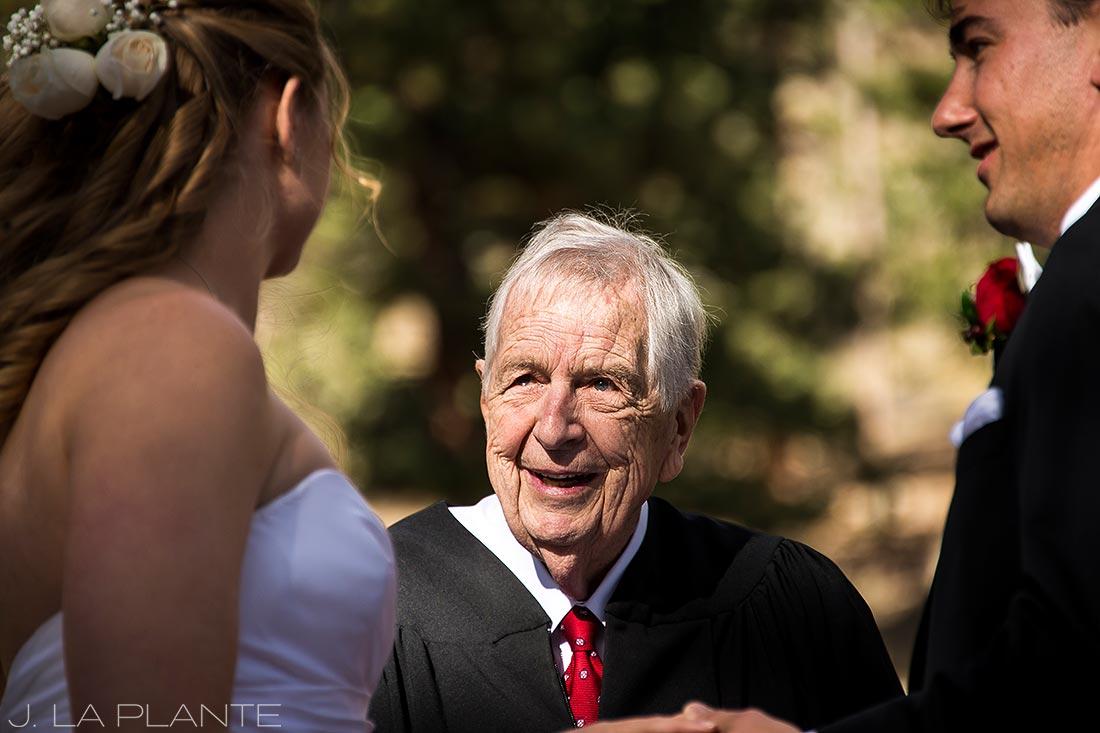 J. LaPlante Photo   Estes Park Wedding Photographers   Della Terra Wedding   Grandfather Officiant