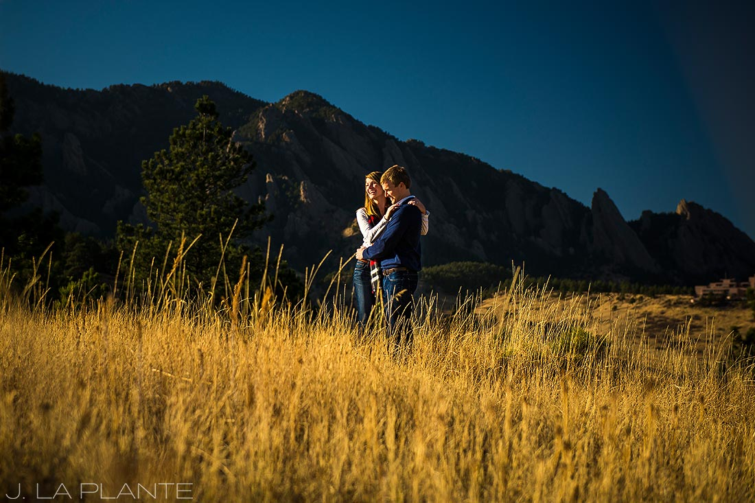 J. LaPlante Photo   Boulder Wedding Photographers   Shanahan Trail Engagement   Golden Hour Engagement Photo