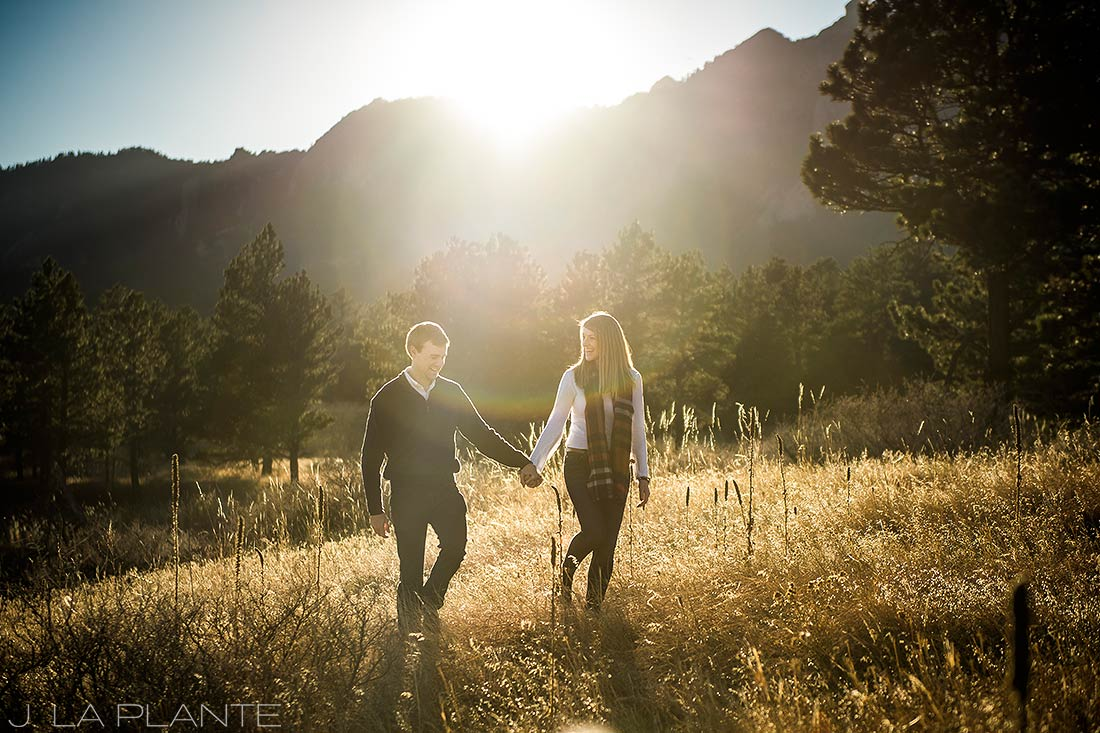 J. LaPlante Photo   Boulder Wedding Photographers   Shanahan Trail Engagement   Sunset Engagement Photo