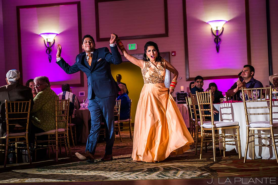 J. La Plante Photo | Colorado Springs Wedding Photographer | Cheyenne Mountain Resort Wedding | Bride and Groom Entrance