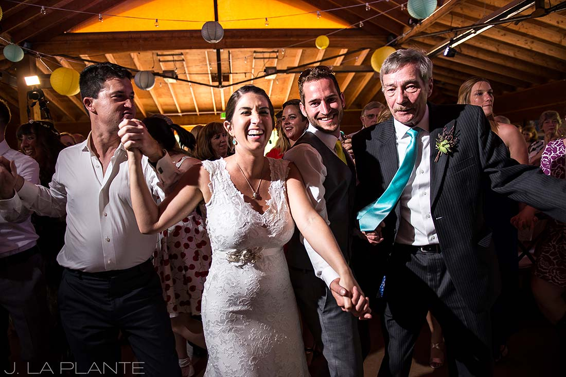 J. LaPlante Photo | Colorado Wedding Photographers | Planet Bluegrass Wedding | Wedding Reception Dance Party