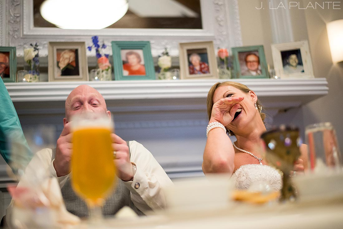 J. La Plante Photo | Kalamazoo Wedding Photographer | Kalamazoo Country Club Wedding | Bride and Groom Toasts