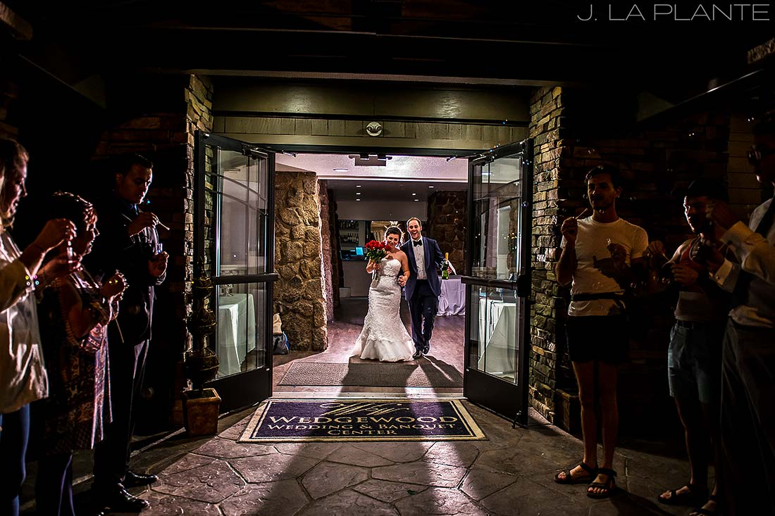 J. LaPlante Photo | Boulder Wedding Photographers | Wedgewood on Boulder Creek Wedding | Bubble Send Off