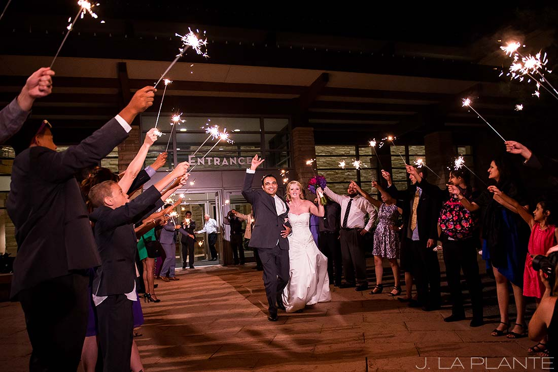 J. LaPlante Photo | Denver Wedding Photographers | Wildlife Experience Wedding | Sparkler Send Off