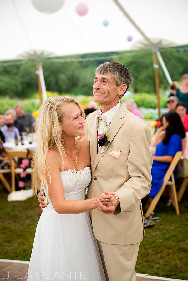 J. La Plante Photo | Ogunquit Maine Wedding Photographer | River Lily Farm Wedding | Father Daughter Dance