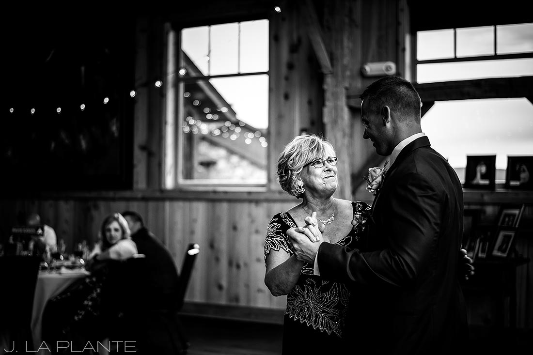 J. La Plante Photo | Colorado Wedding Photographer | Devil's Thumb Ranch Wedding | Mother Son Dance