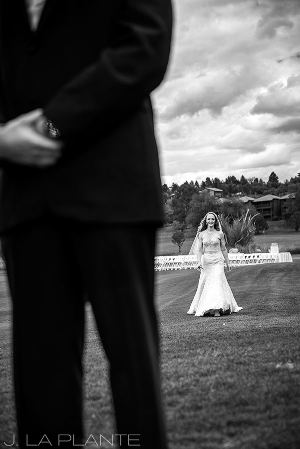 J. LaPlante Photo | Colorado Springs Wedding Photographer | Cheyenne Mountain Resort Wedding | Bride and Groom First Look