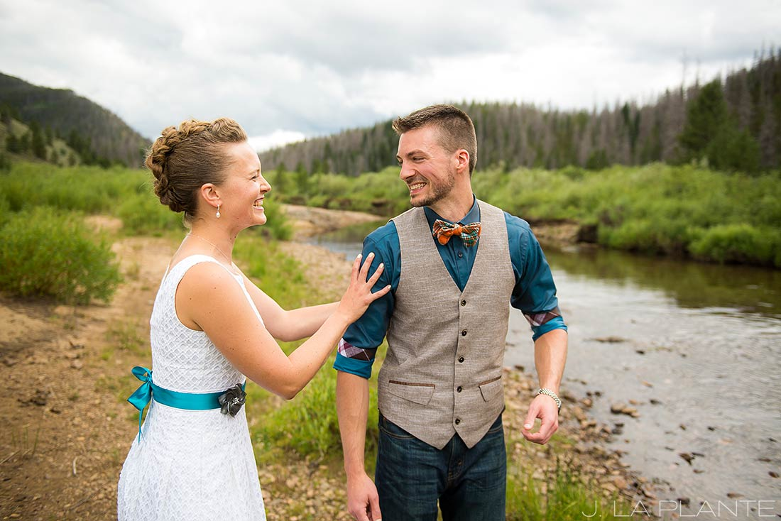 J. LaPlante Photo | Granby Colorado Wedding Photographer | Shadow Mountain Ranch Wedding | Bride and Groom First Look