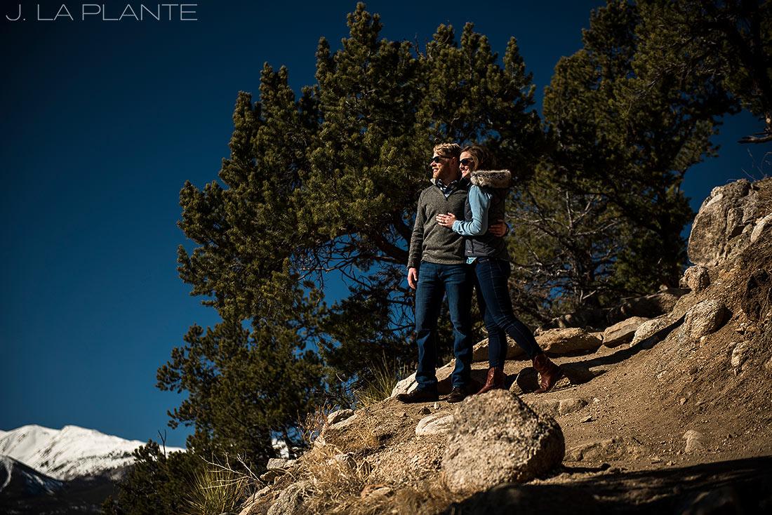 J. La Plante Photo | Colorado Wedding Photographer | Buena Vista Colorado Engagement | Bride and Groom Portrait Mount Yale