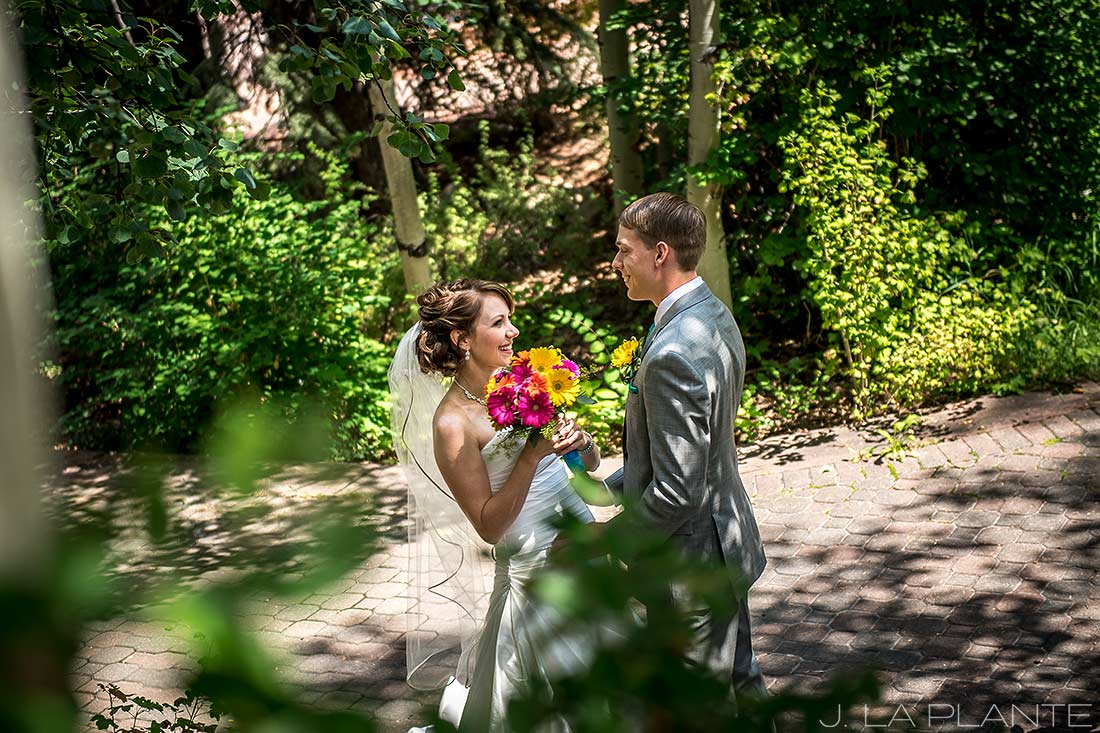 J. LaPlante Photo | Colorado Wedding Photographer | Beaver Creek Wedding | Bride and Groom First Look