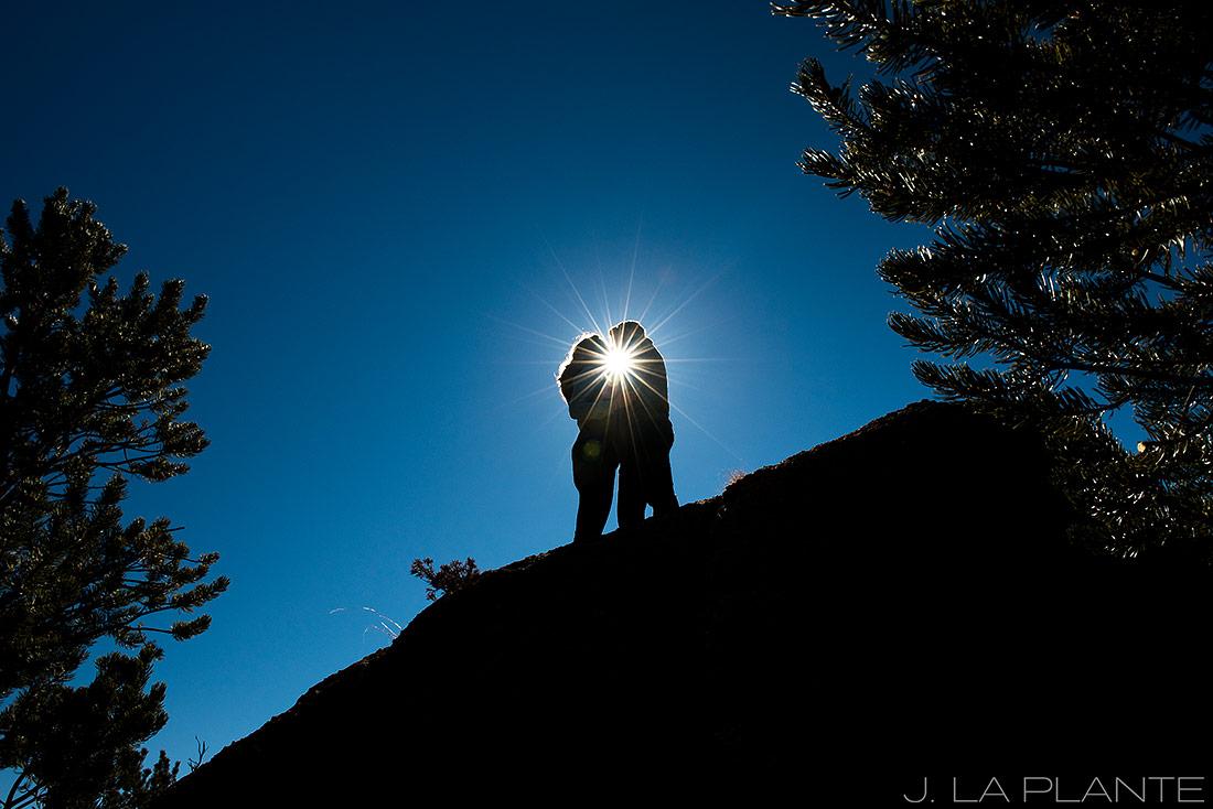 J. La Plante Photo | Colorado Wedding Photographer | Buena Vista Colorado Engagement | Bride and Groom Silhouette