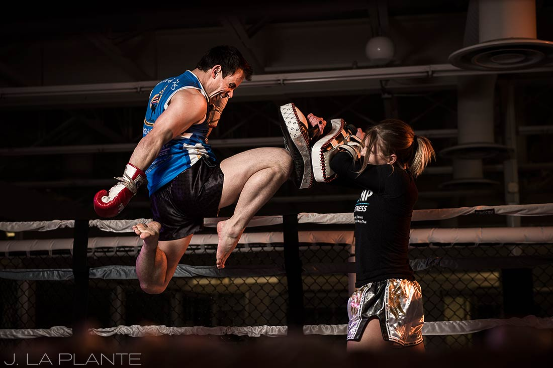 Mixed martial arts engagement session | Denver wedding photographer | J. La Plante Photo