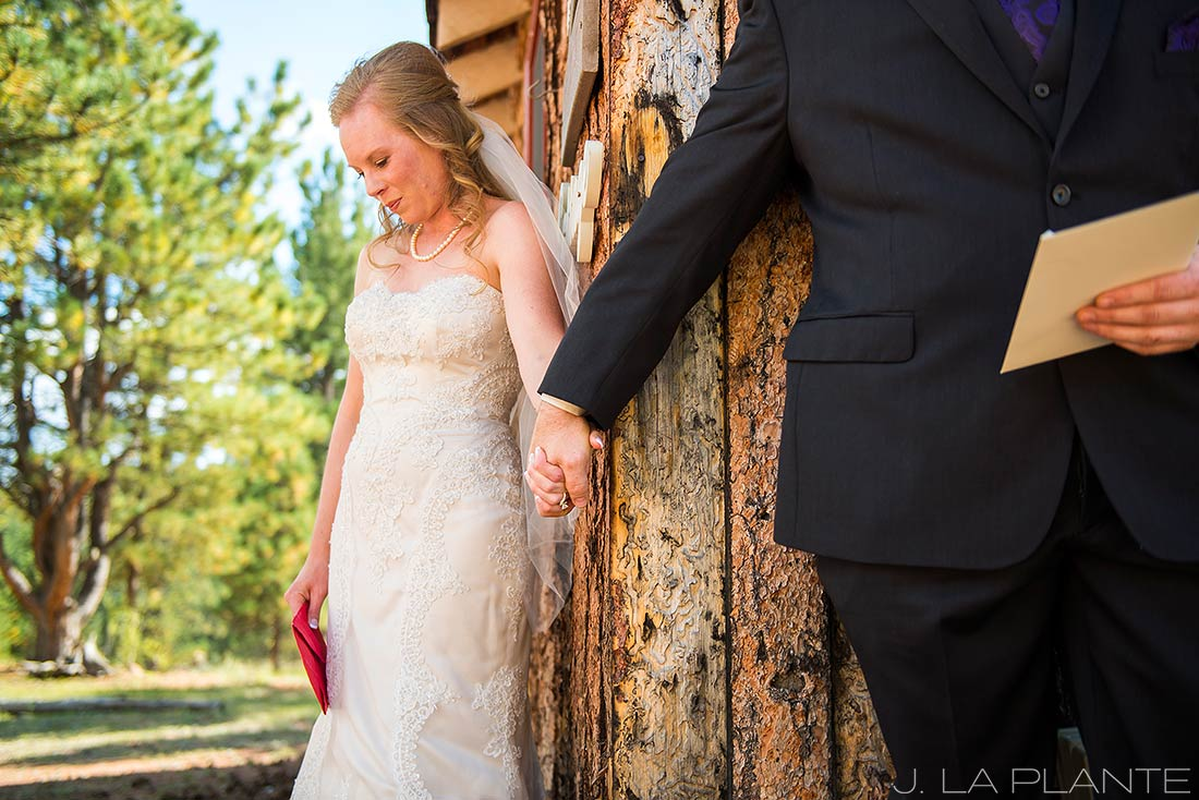 J. LaPlante Photo | Colorado Wedding Photographer | Lower Lake Ranch Wedding | Bride and Groom Anticipation Photo