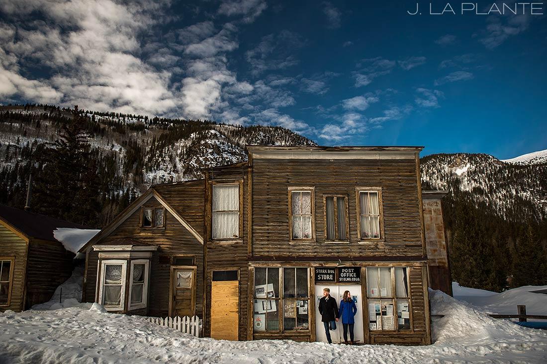 J. La Plante Photo | Colorado Wedding Photographer | St Elmo Colorado Engagement | Bride and Groom in Ghost Town