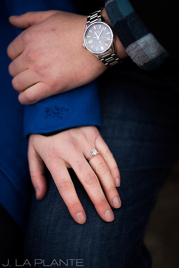 J. La Plante Photo | Colorado Wedding Photographer | Salida Colorado Engagement | Diamond Engagement Ring