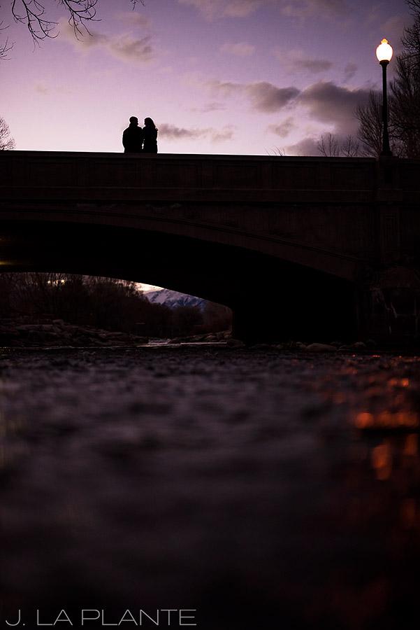 J. La Plante Photo | Colorado Wedding Photographer | Salida Colorado Engagement | Bride and Groom on Bridge