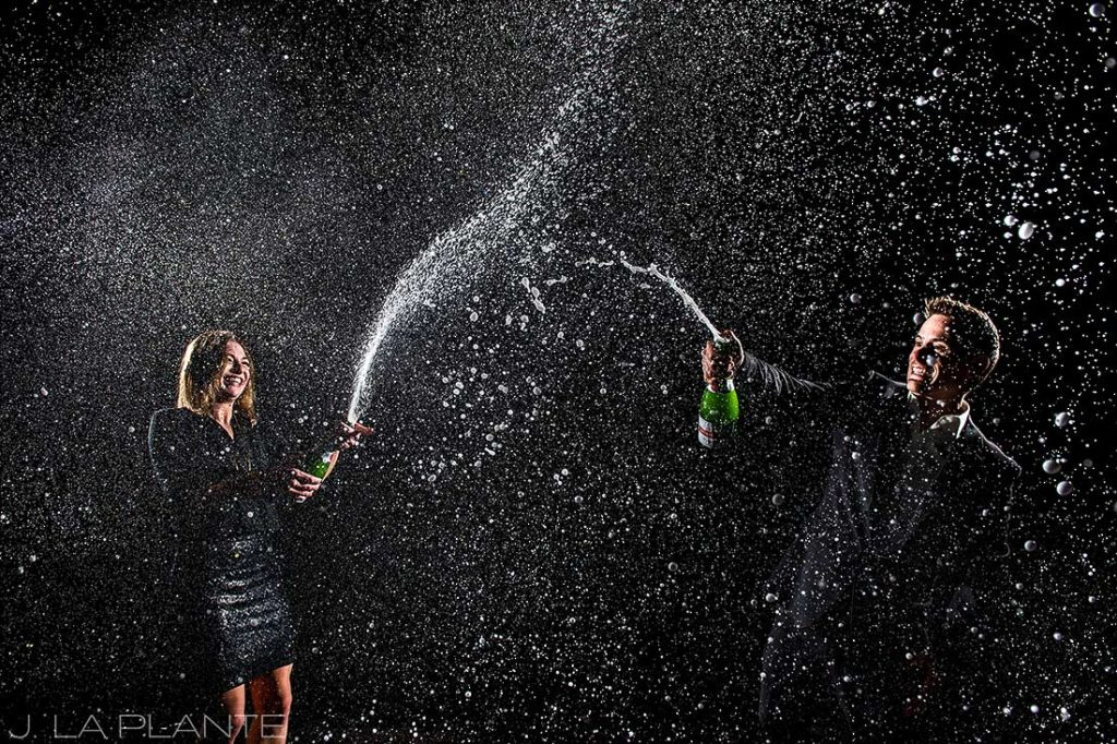 Champagne engagement session | Denver wedding photographer | J. La Plante Photo