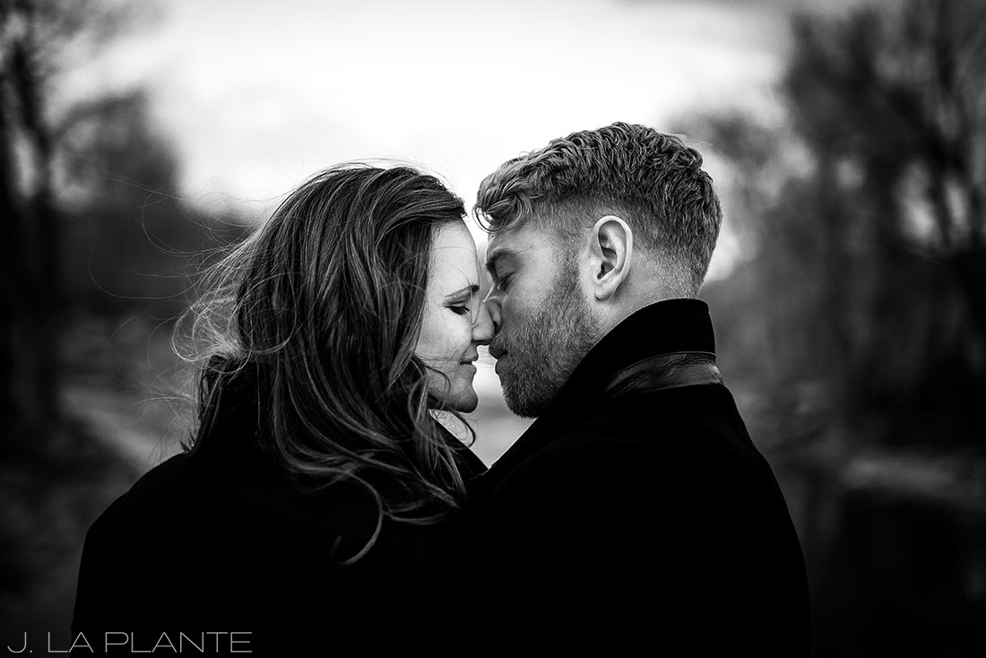 J. La Plante Photo | Colorado Wedding Photographer | Salida Colorado Engagement | Black and White Engagement Portrait