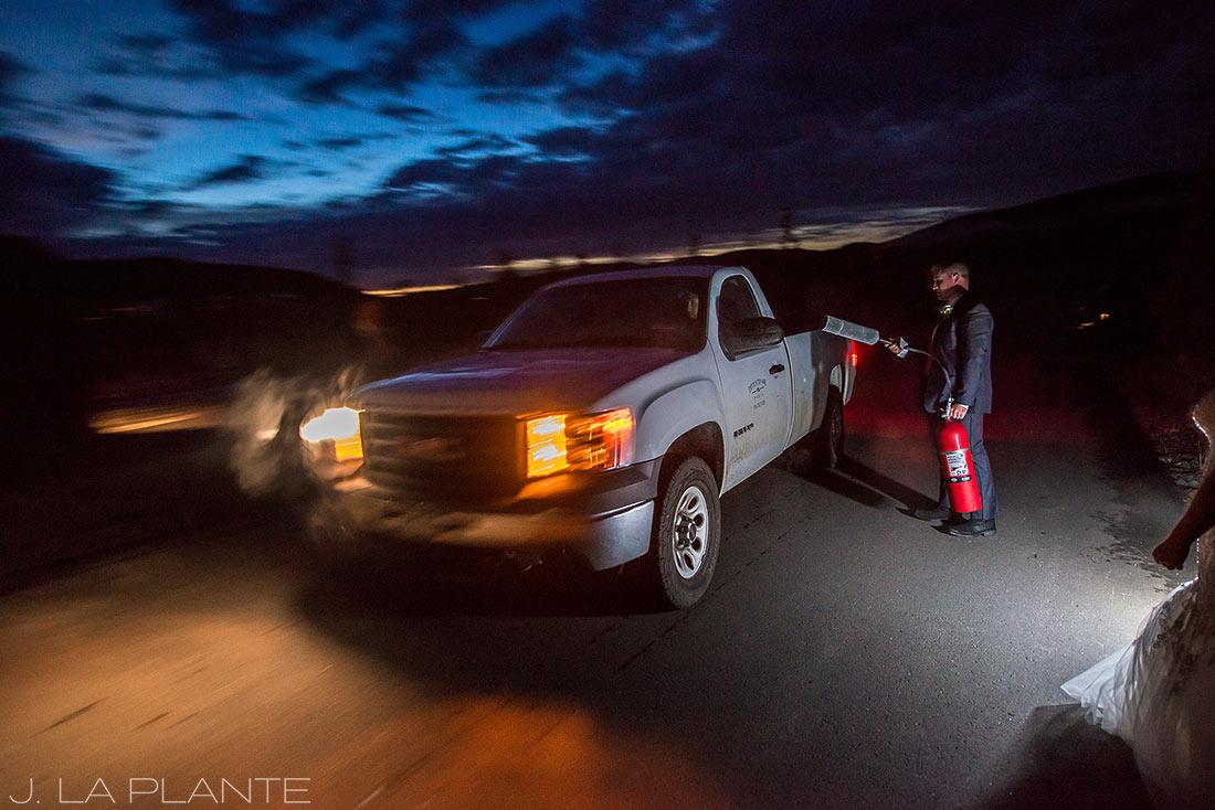 J. La Plante Photo | Colorado Wedding Photographers | Devil's Thumb Ranch Wedding | Sunset at Devil's Thumb Ranch Colorado