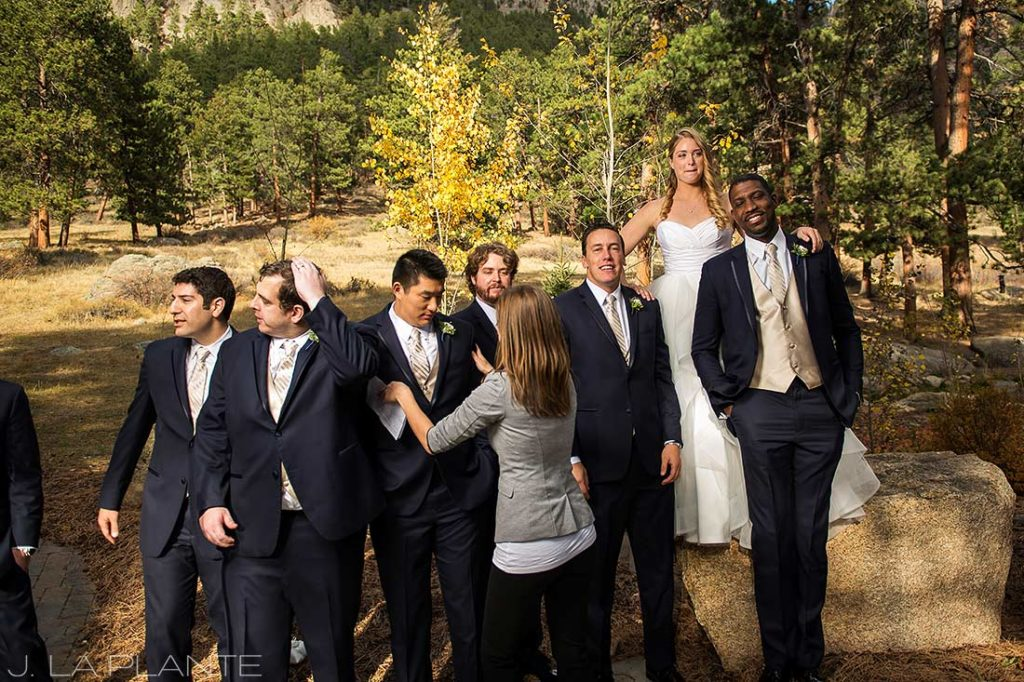 formal photos of wedding party