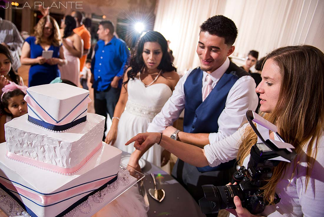 J. La Plante Photo | Colorado Wedding Photographer | Denver Wedding Photography | Stonebrook Manor Wedding | Cake Cutting