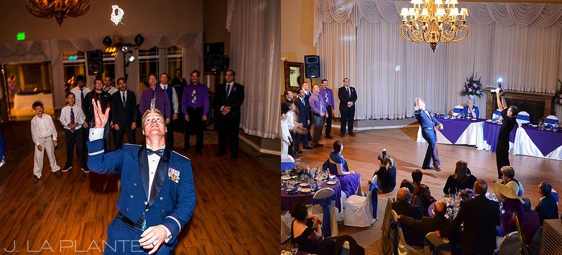 J. La Plante Photo | Colorado Wedding Photographer | Denver Wedding Photography | Stonebrook Manor Wedding | Garter Toss