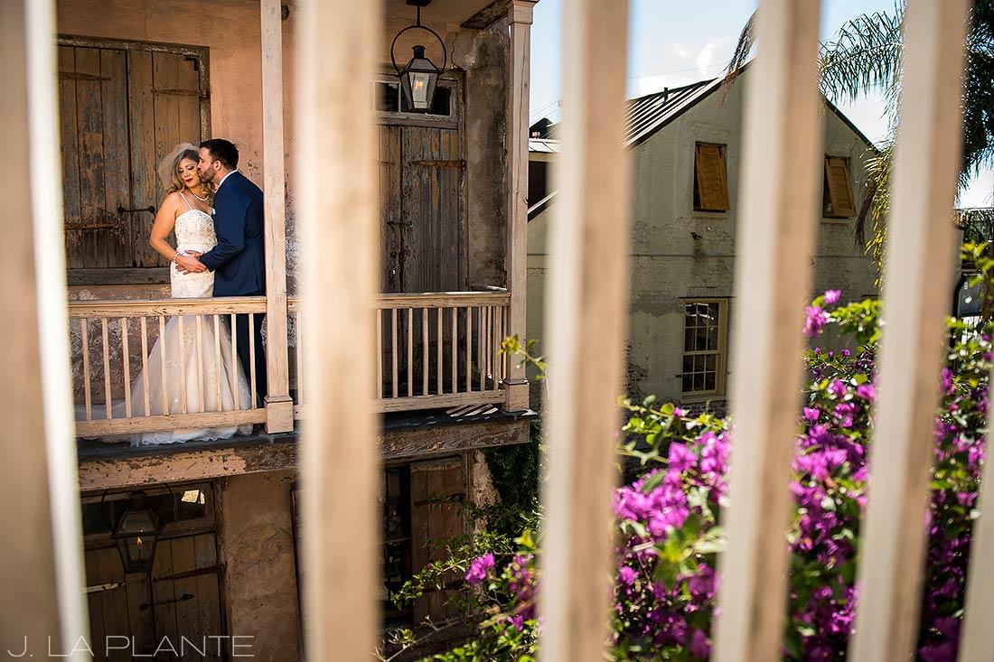 Vintage bride and groom photo | Race & Religious Wedding | New Orleans Destination Wedding Photography | J. La Plante Photo