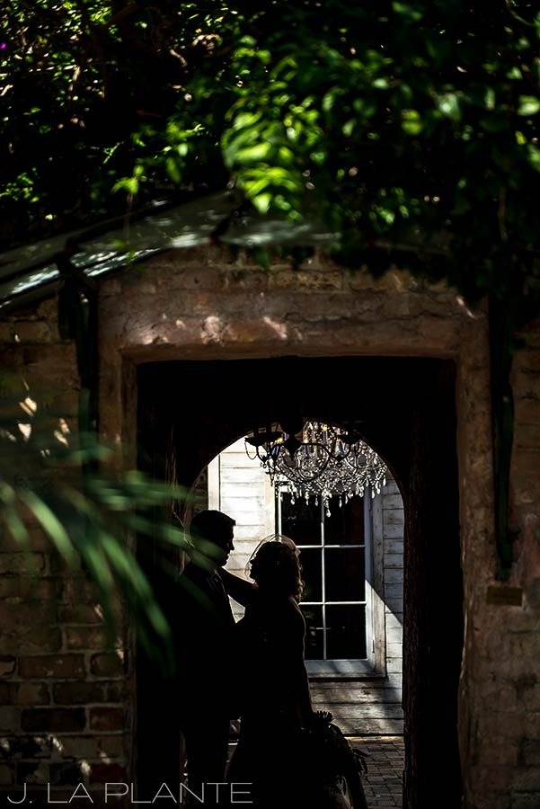 Bride and groom silhouette | Race & Religious Wedding | New Orleans Destination Wedding Photography | J. La Plante Photo