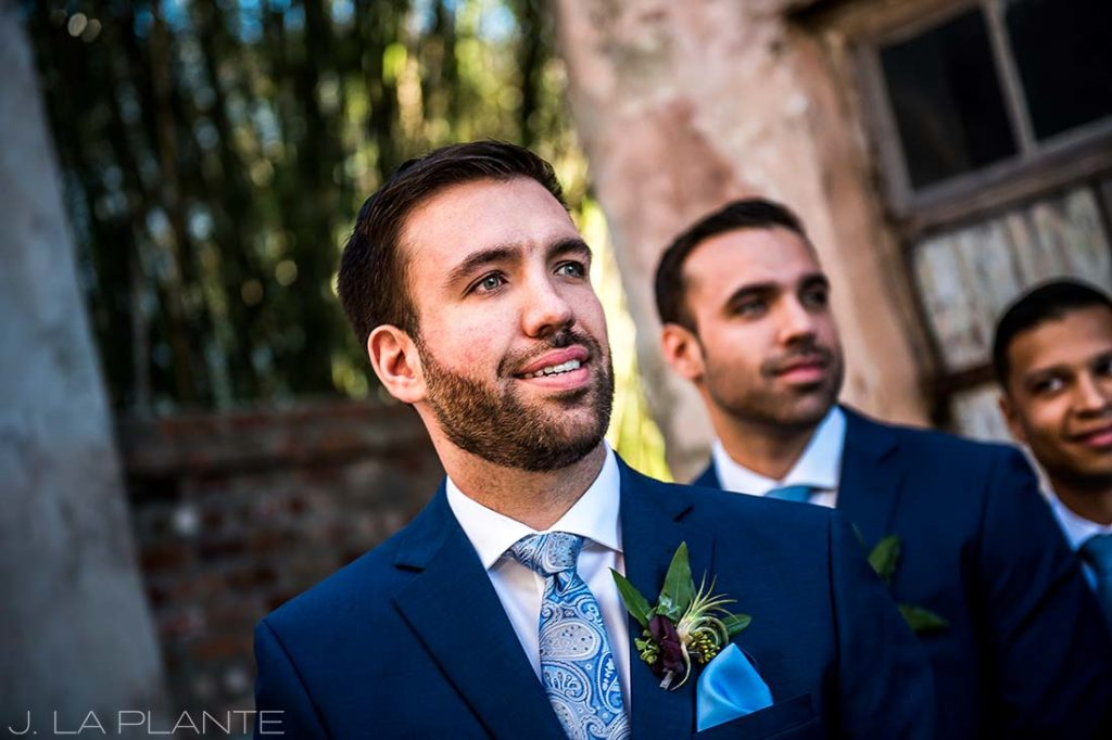 Groom seeing bride for first time   Race & Religious Wedding   New Orleans Destination Wedding Photography   J. La Plante Photo