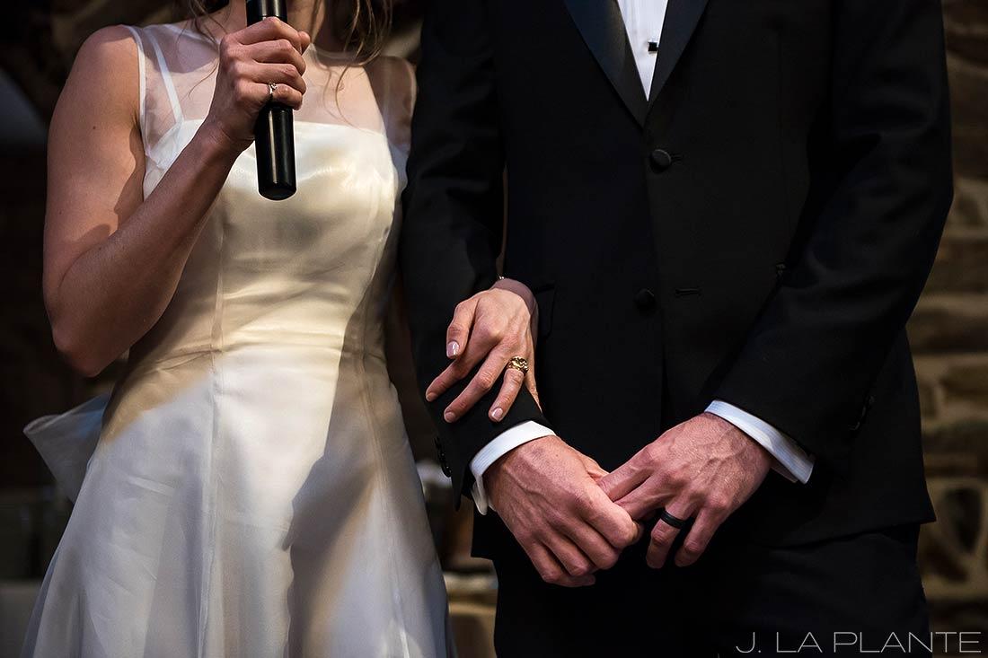 Bride and groom toast | Chief Hosa Lodge wedding | J. La Plante Photo | Denver Wedding Photographers