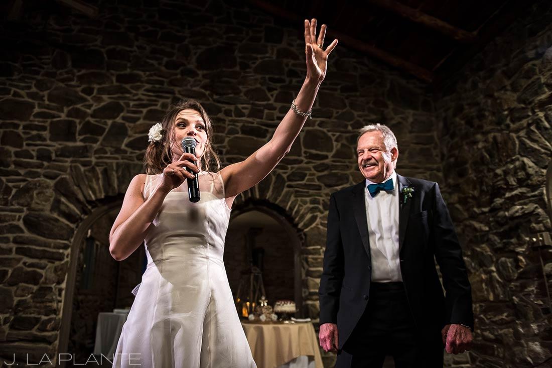 Auctioneer bride | Chief Hosa Lodge wedding | J. La Plante Photo | Denver Wedding Photographers