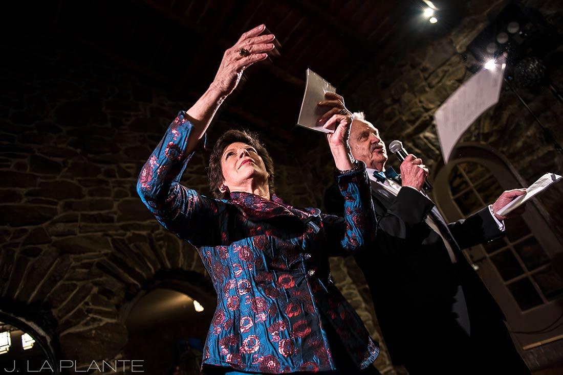 Bride's parents giving toast | Chief Hosa Lodge wedding | J. La Plante Photo | Denver Wedding Photographers