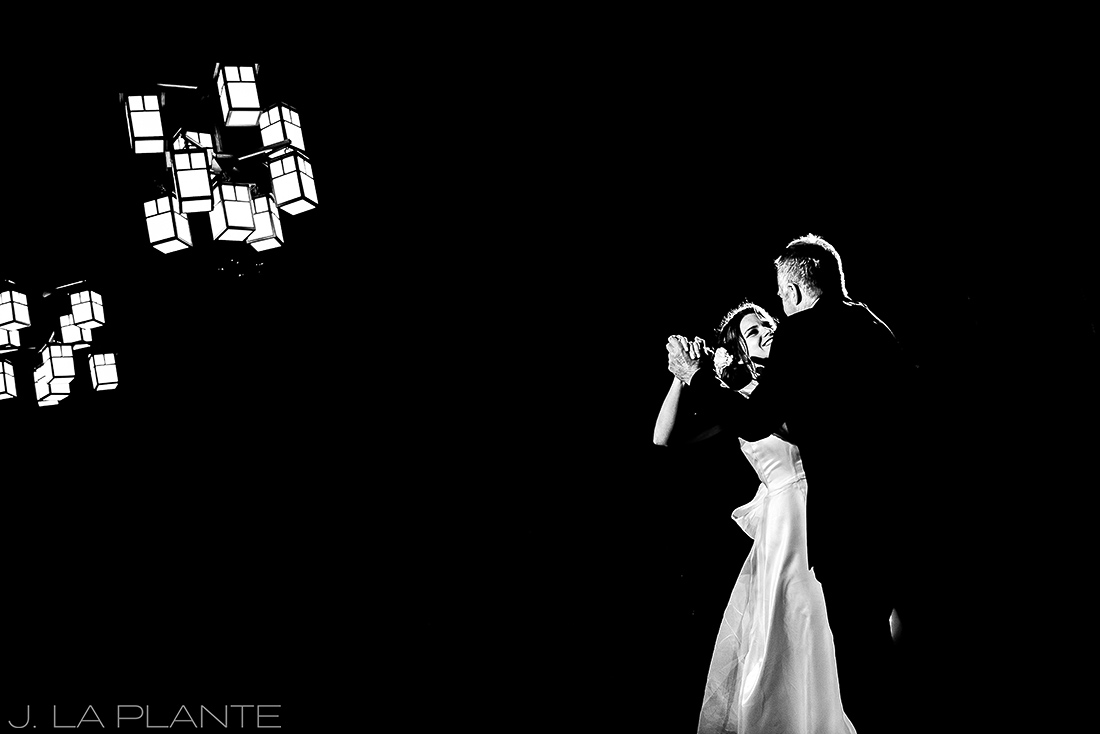 Bride dancing with father | Chief Hosa Lodge wedding | J. La Plante Photo | Denver Wedding Photographers