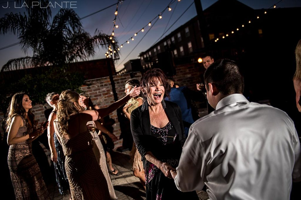 wedding reception dance party in the big easy