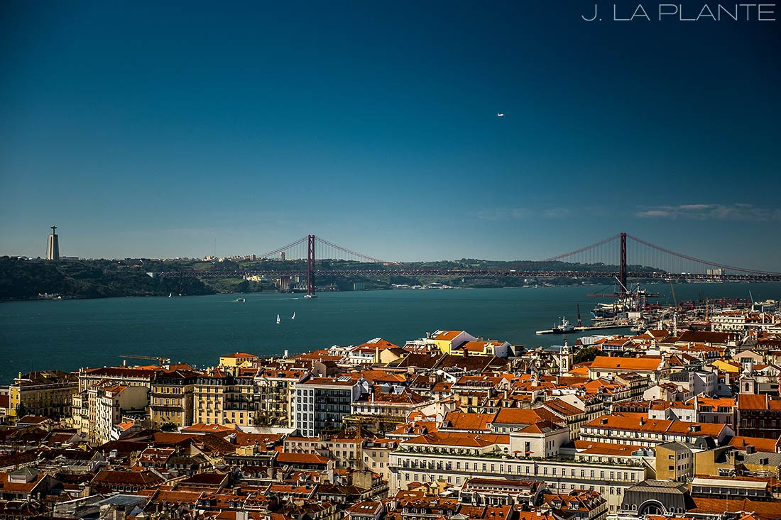 cool photo of the bridges of lisbon portugal