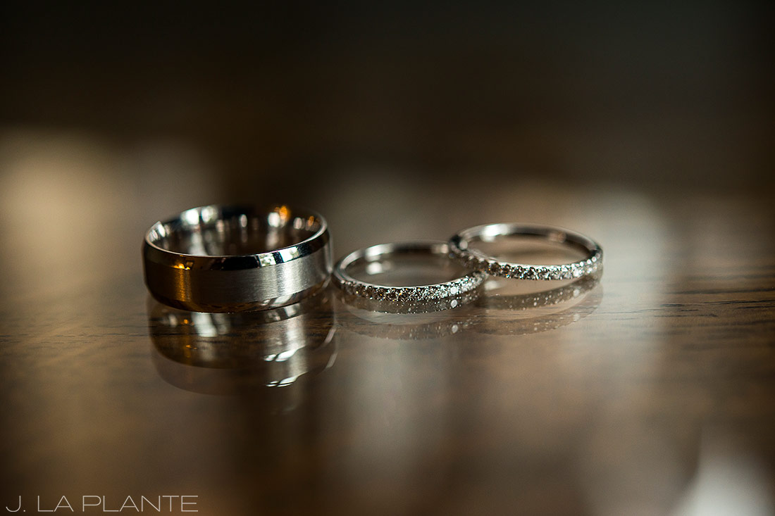 Boettcher Mansion wedding | Wedding rings | J La Plante Photo | Denver Wedding Photographer