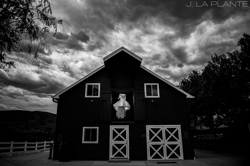 Unique wedding dress photo   Crooked Willow Farms Wedding   Denver Wedding Photographer   J La Plante Photo
