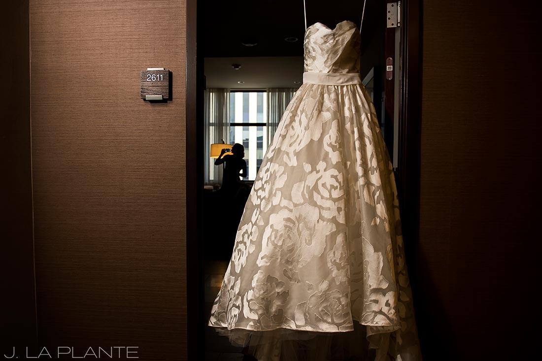 Grand Hyatt Denver Wedding   Wedding gown   Same Sex Wedding Photographer   J La Plante Photo