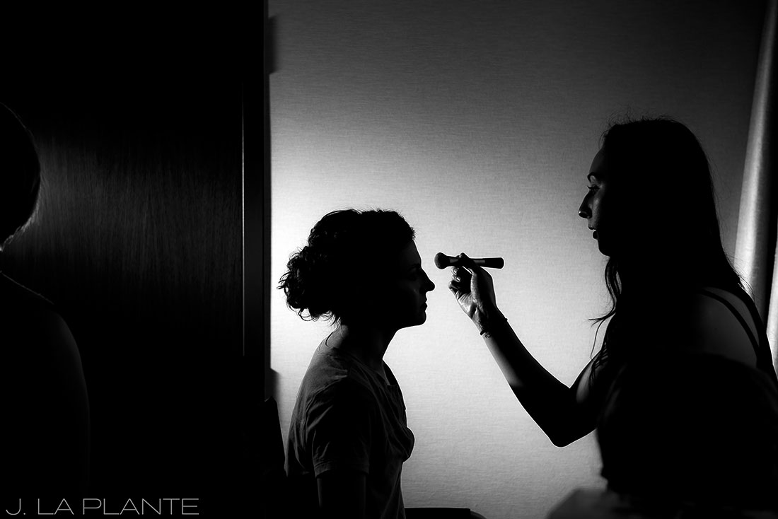 Grand Hyatt Denver Wedding   Bride getting ready   Same Sex Wedding Photographer   J La Plante Photo