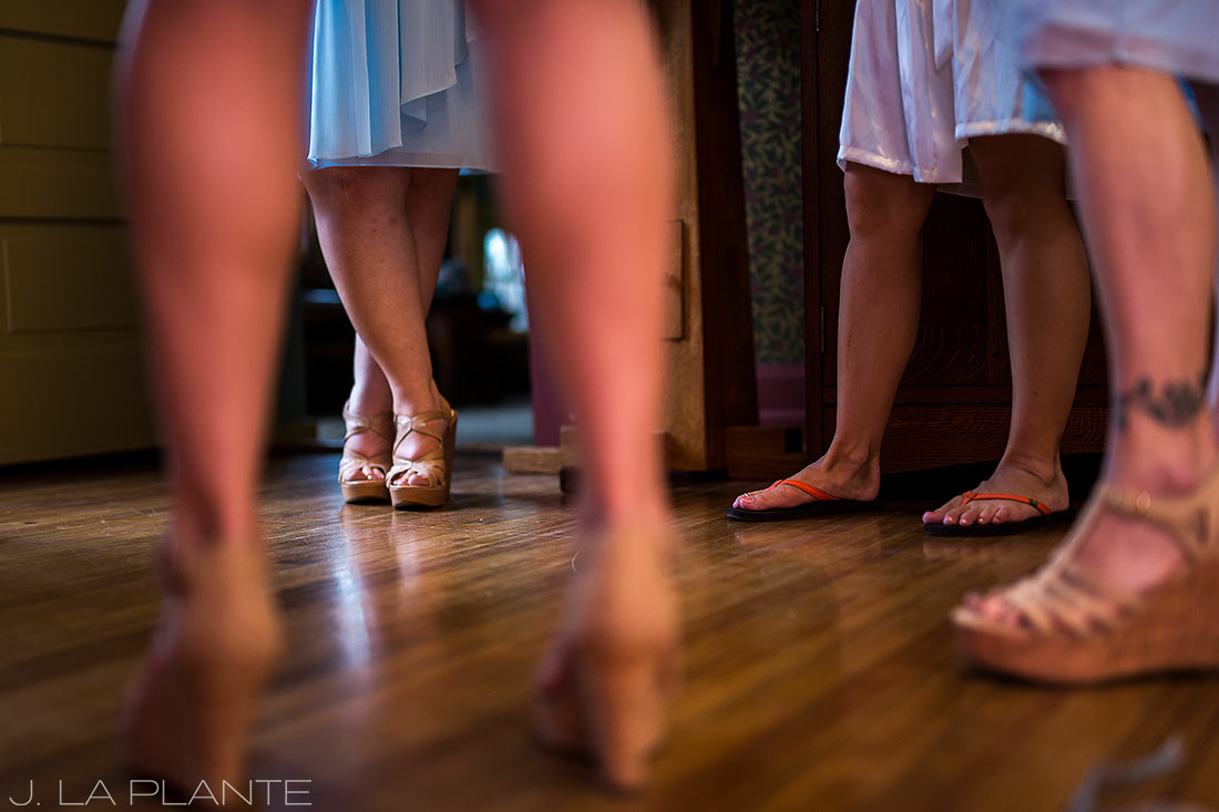 Boettcher Mansion wedding | Bridesmaids getting ready | J La Plante Photo | Denver Wedding Photographer