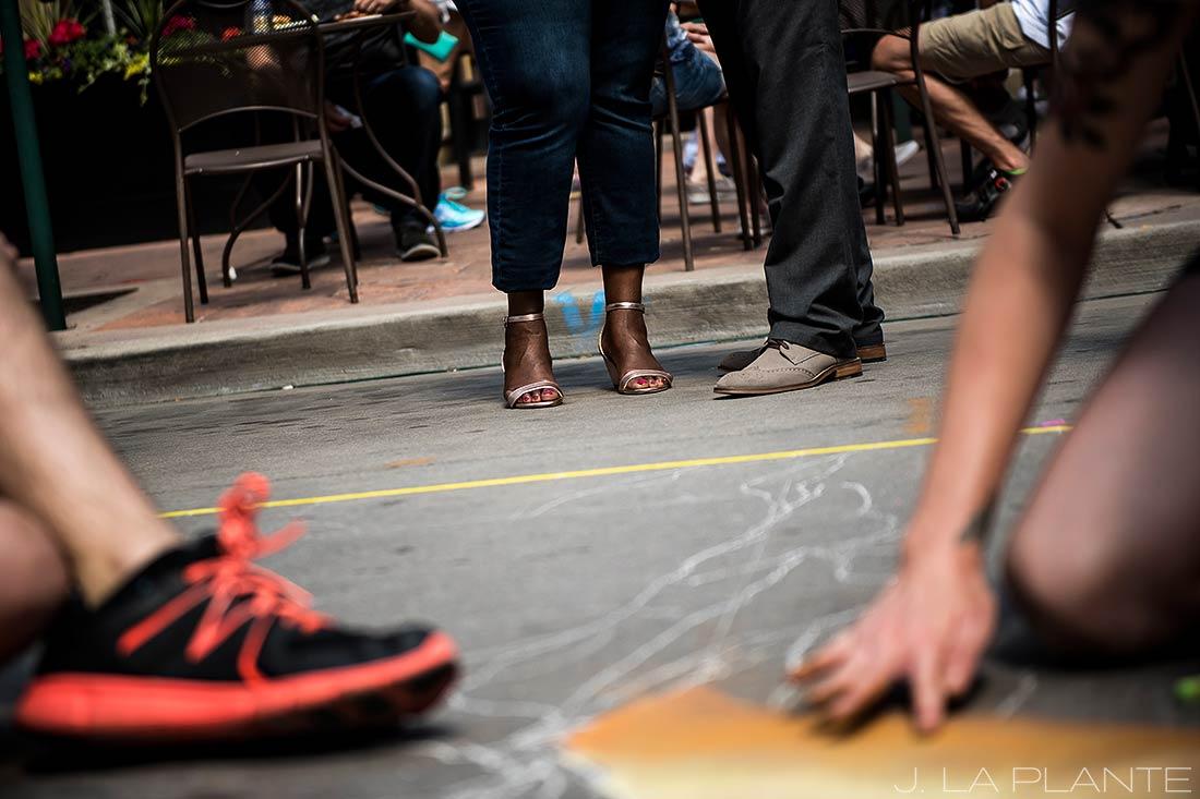 Denver Chalk Art Engagement | Downtown Denver Engagement Photographer | J. La Plante Photo