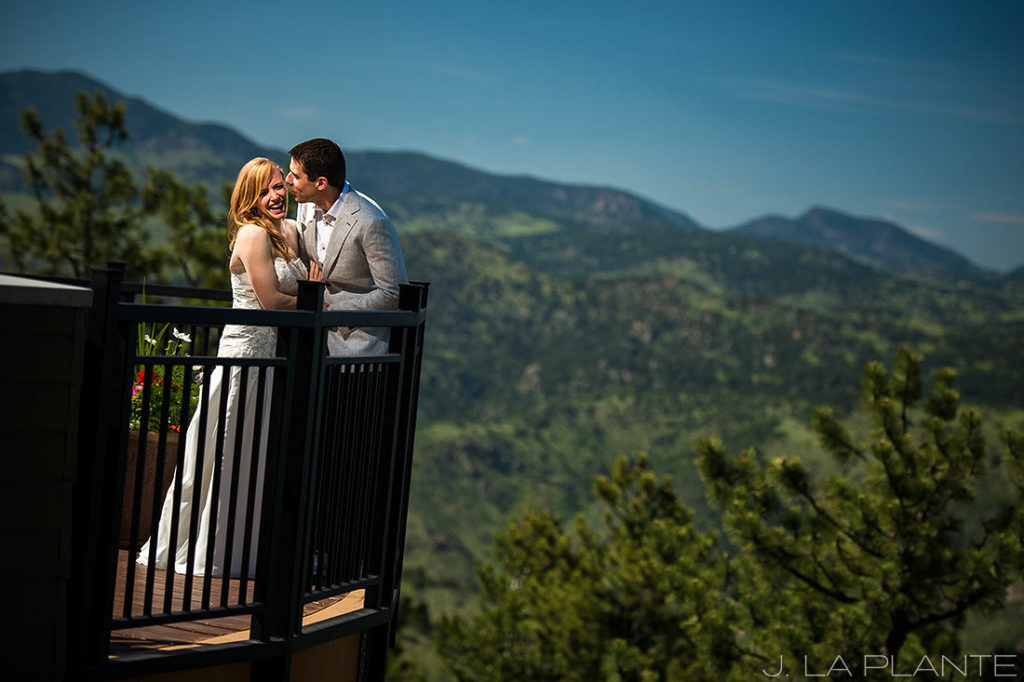 Mount Vernon Country Club Wedding | Bride and groom in mountains | Denver wedding photographer | J La Plante Photo