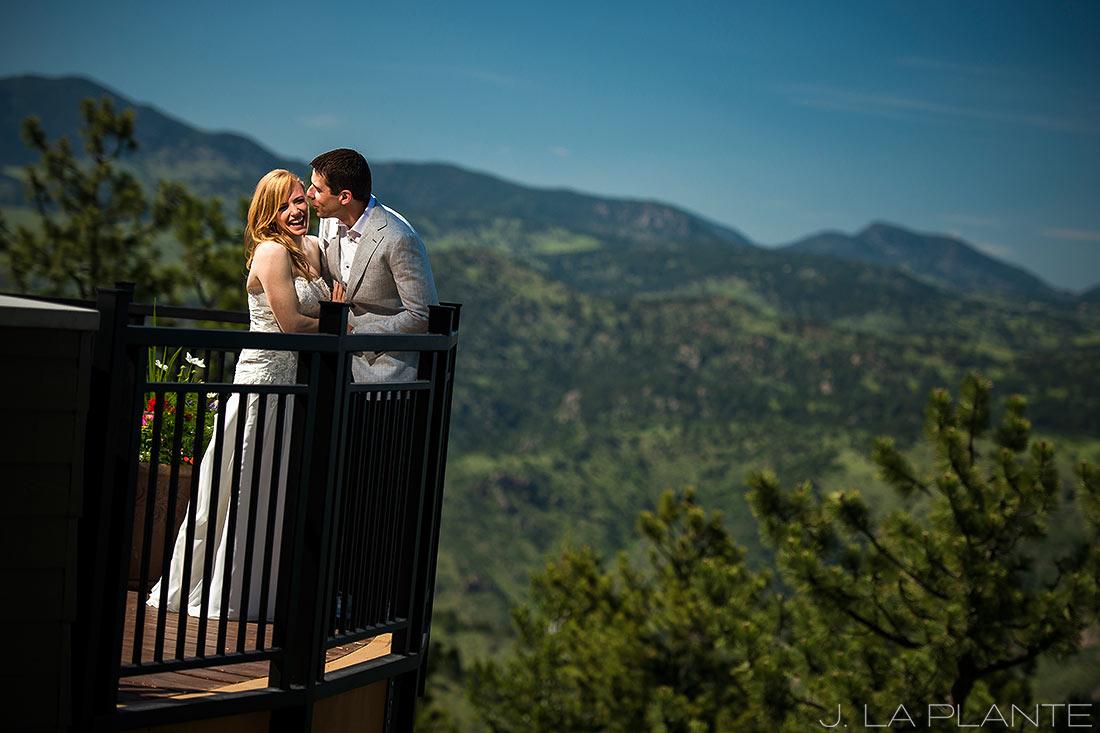 Mount Vernon Country Club Wedding   Bride and groom in mountains   Denver wedding photographer   J La Plante Photo