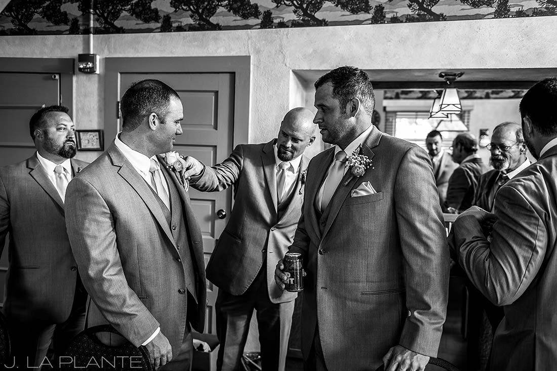 Boettcher Mansion wedding | Groomsmen getting ready | J La Plante Photo | Denver Wedding Photographer