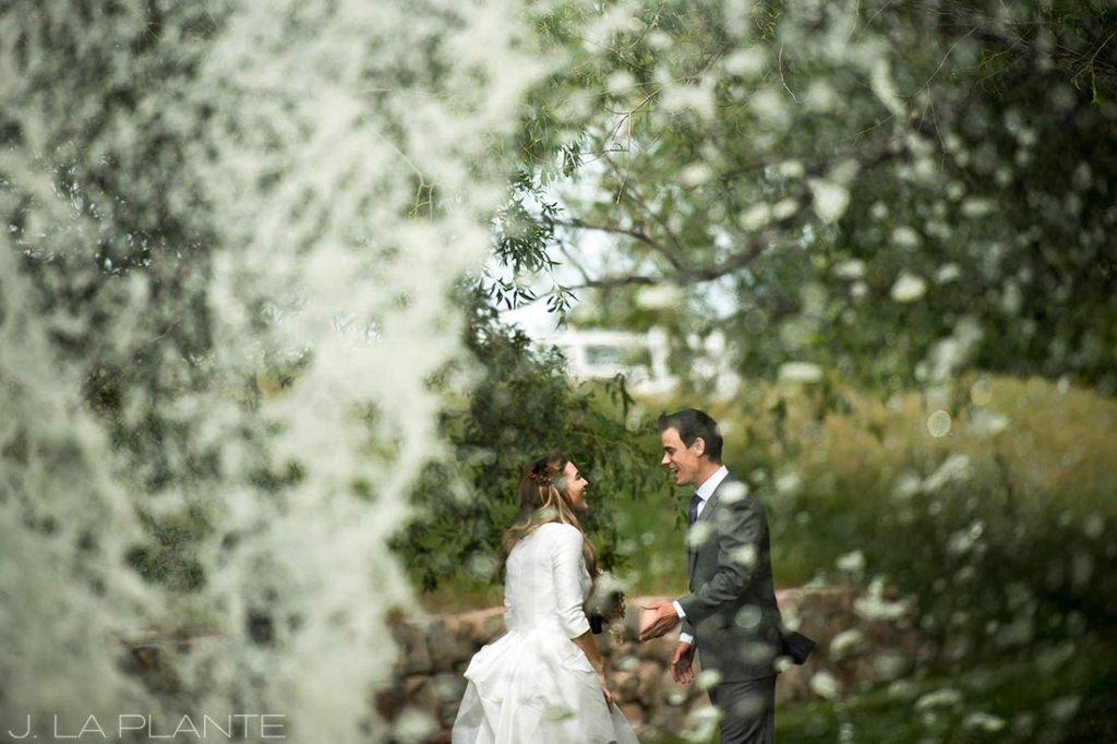 First look   Crooked Willow Farms Wedding   Denver Wedding Photographer   J La Plante Photo