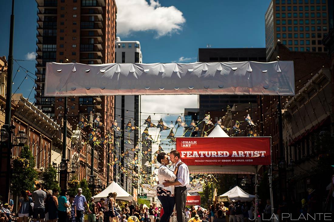 Chalk Art Festival | Larimer Square Engagement | Denver Engagement Photographer | J. La Plante Photo