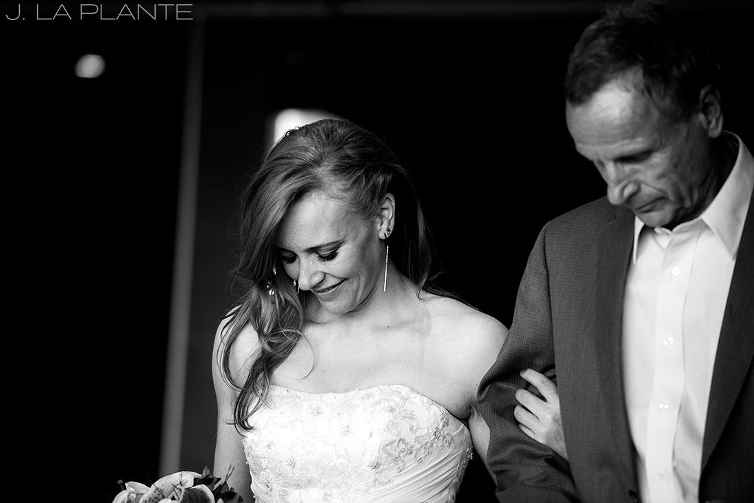 Mount Vernon Country Club Wedding   Father walking bride down aisle   Denver wedding photographer   J La Plante Photo