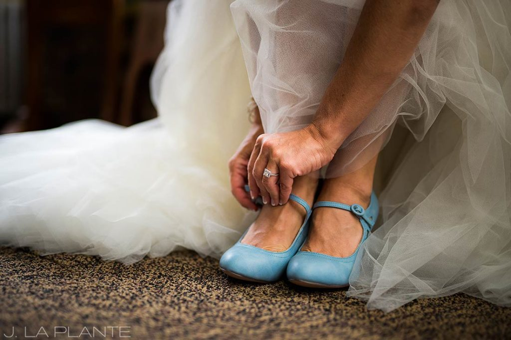 Boettcher Mansion wedding | Something blue shoes | J La Plante Photo | Denver Wedding Photographer