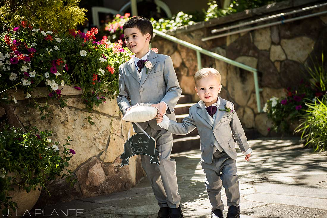 Sonnenalp Wedding | Ring bearers | Vail wedding photographer | J La Plante Photo